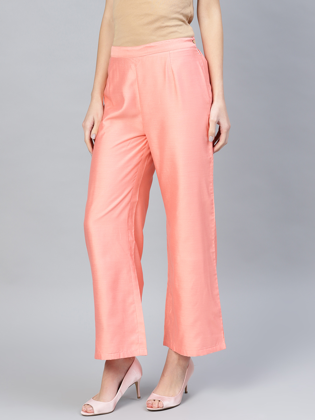 Buy Baby Pink Palazzo Pant Cotton Silk For Best Price Reviews Free Shipping
