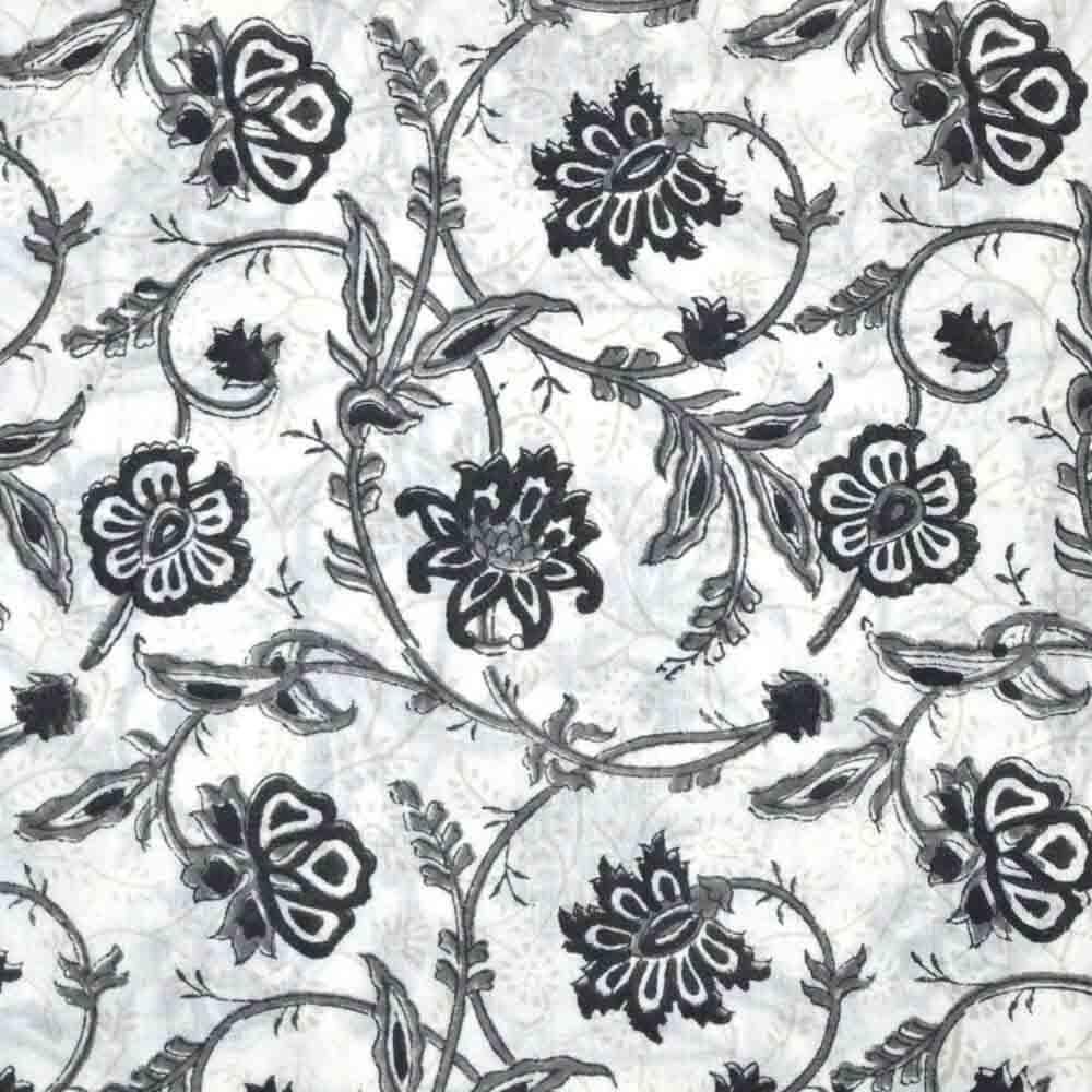 Buy black and gray unique flower print cotton fabric by the yard black and gray unique flower print cotton fabric by the yard mightylinksfo