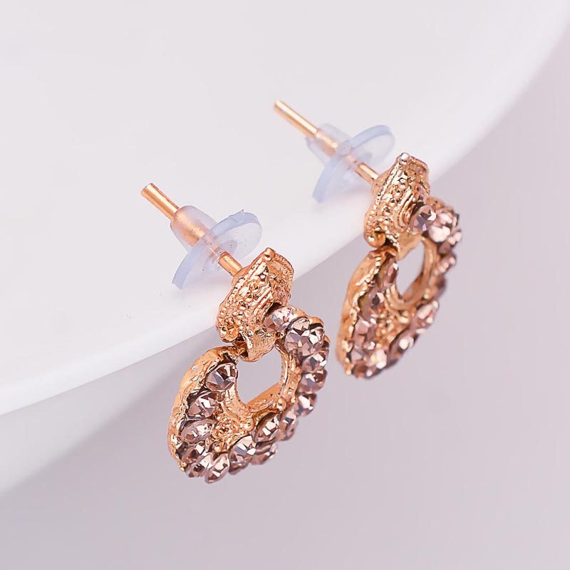 0ec048bac04a34 Buy Gold Stone Circular Design with Golden Polish Earring for Women for Best  Price, Reviews, Free Shipping