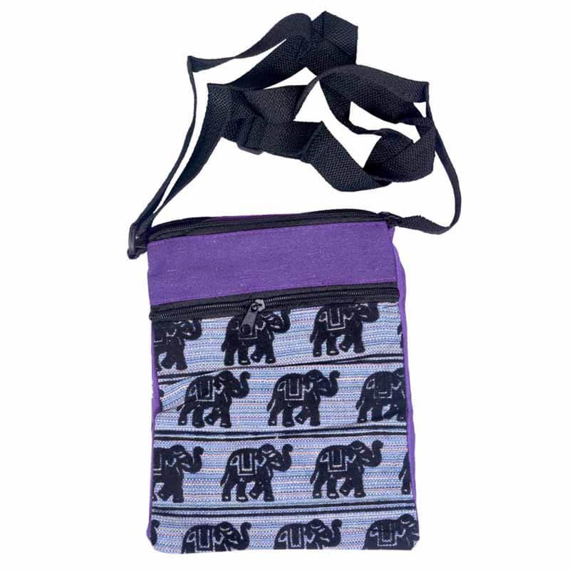8989eb2bc Buy Purple And Black Elephant Print Sling Bag