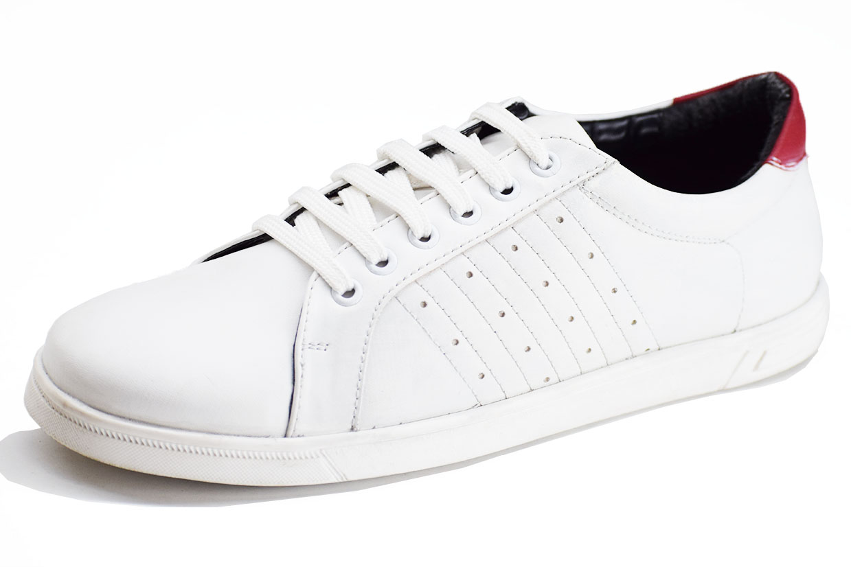 Sneaker Brogue White Color Shoe-33247