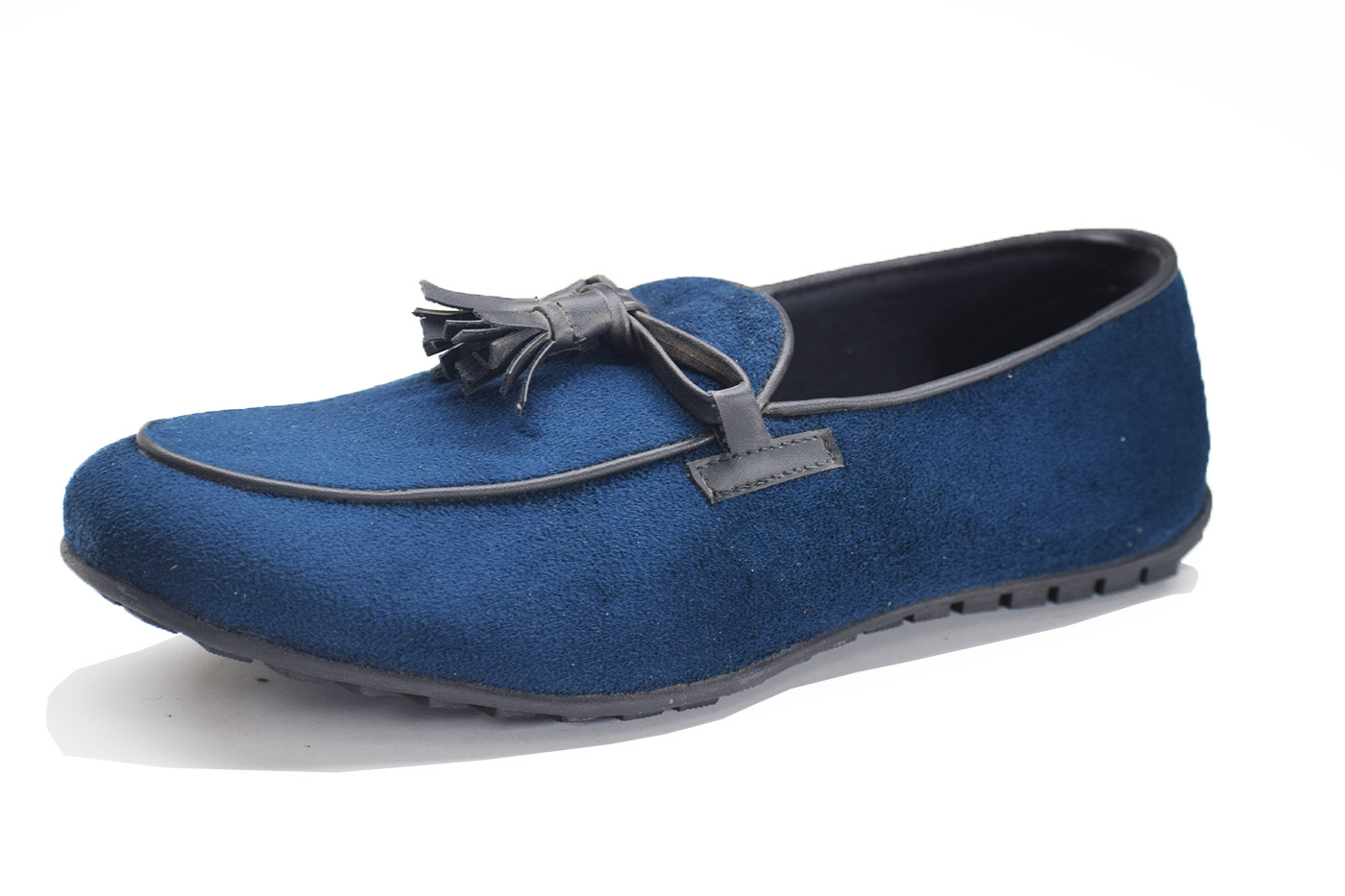 Tassles Suede Drivers Blue Color Shoe-33268