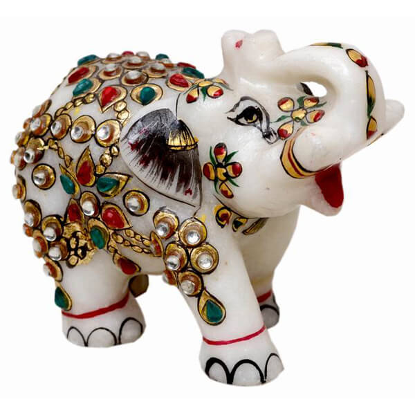 marble Elephant Statue-3 inch