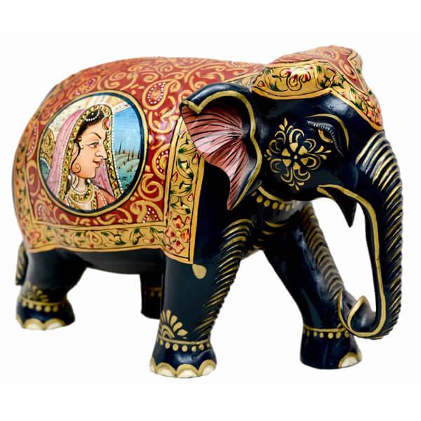 teak-wood Elephant sculpture-5 inch