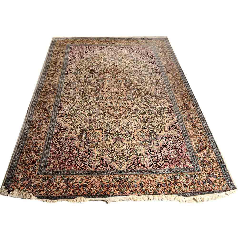Traditional Kashmir Silk Handmade Hand Knotted Persian: Buy 6*9 Persian Hand Knotted Kashmiri Staple Silk Rug