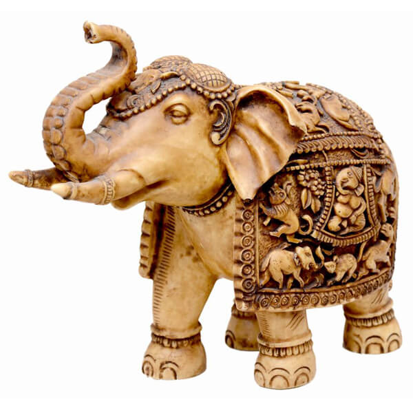 handcarved from sy marble White Elephant sculpture-6 inch