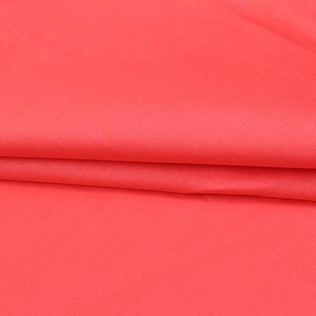 Baby Pink Plain Cotton Silk Fabric-16428