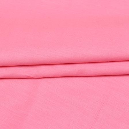 Baby Pink Plain Cotton Silk Fabric-16448