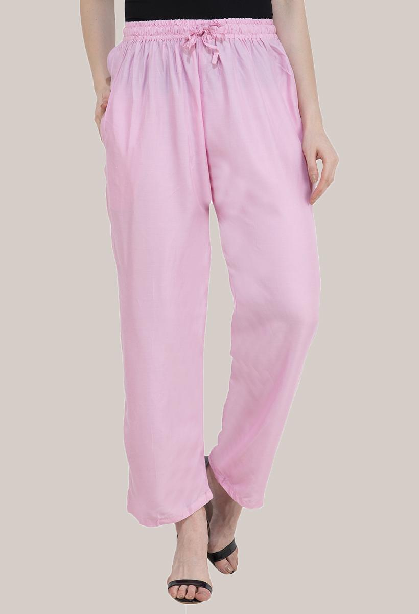 Baby Pink Rayon Pant-33483