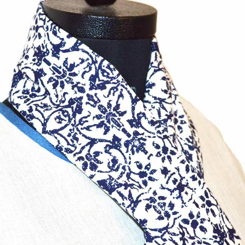 Beautiful Blue Scarf for Girls on White base