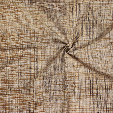 Beige-Black and Yellow Handloom Cotton Khadi Fabric-40119
