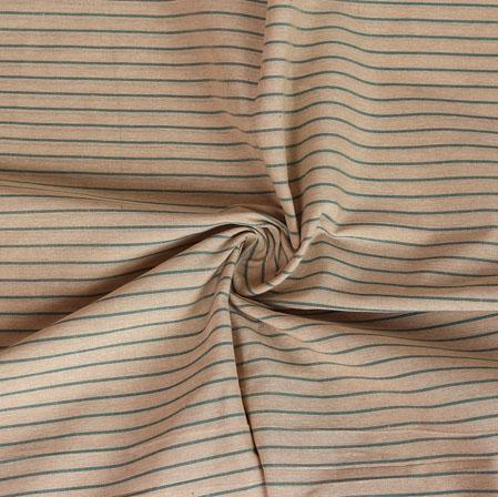 Cotton Shirt (2.25 Meter)-Beige Green Stripe-40962