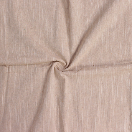 Beige Plain Viscose Cotton Samray Handloom Fabric-40084