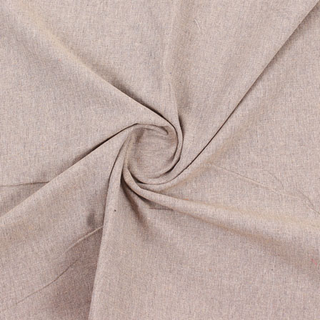 Beige Plain Handloom Cotton Fabric-40503