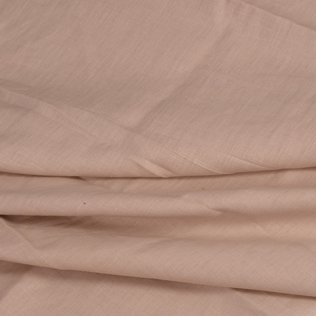 Linen Shirt (1.6 Meter) Fabric- Beige Plain Indian-90022