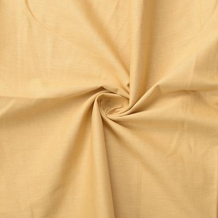 Beige Plain Slub Cotton Handloom Fabric-40217
