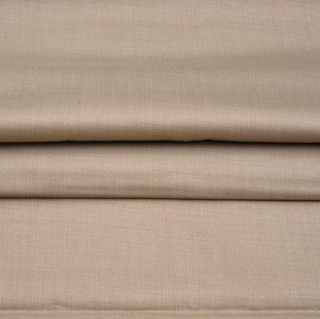 Men Unstitched Trouser (1.2 MTR)-Beige Plain Cotton Wool Fabric-42165