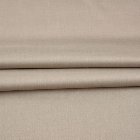 Men Unstitched Trouser (1.2 MTR)-Beige Plain Cotton Wool Fabric-42171