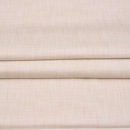 Men Unstitched Trouser (1.2 MTR)-Beige Plain Cotton Wool Fabric-42176
