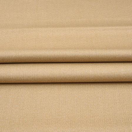Men Unstitched Trouser (1.2 MTR)-Beige Plain Cotton Wool Fabric-42183