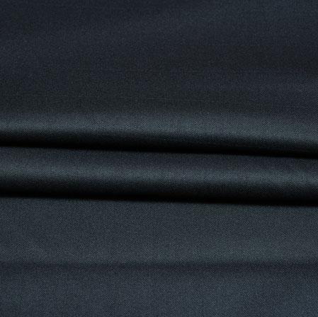 Black Plain Wool Fabric-90210