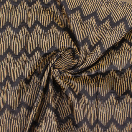 Black Golden Jacquard Cotton Fabric-9020