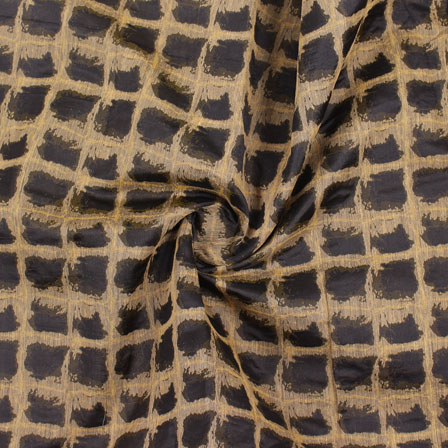 Black Golden Jacquard Cotton Fabric-9024
