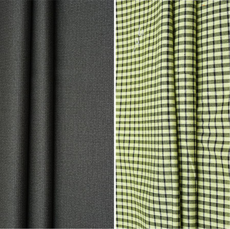 Combo Set Shirt and Trouser-Black Olive Green and White-42080