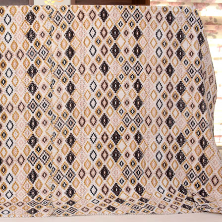 Black-Pink and Cream Handmade kantha Quilt-4323