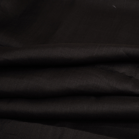 Linen Shirt (1.6 Meter) Fabric- Black Plain Indian-90008