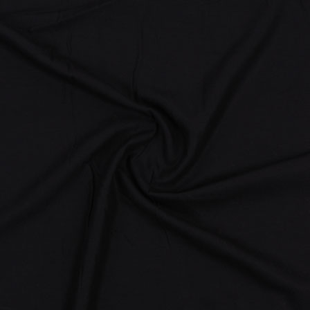 Black Plain Rayon Fabric-40699