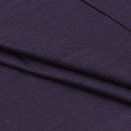 Black Plain Linen Cotton Fabric-40621