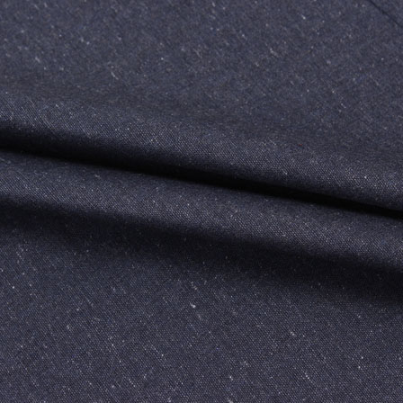 Black Plain Linen Cotton Fabric-40634