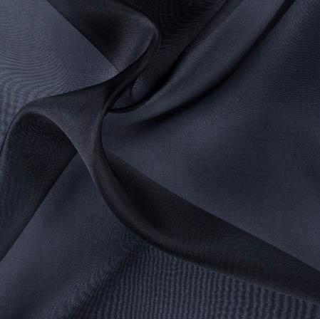 Black Plain Organza Silk Fabric-51762