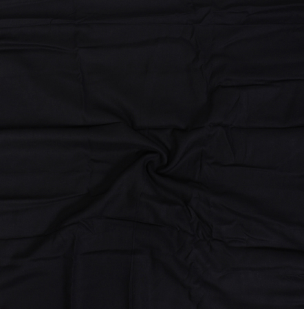 Black Plain Rayon Handl0om Khadi Fabric-40099