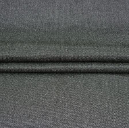 Men Unstitched Trouser (1.3 MTR)-Black Plain Cotton Fabric-42057
