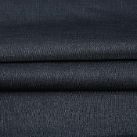 Men Unstitched Trouser (1.2 MTR)-Black Plain Cotton Wool Fabric-42167