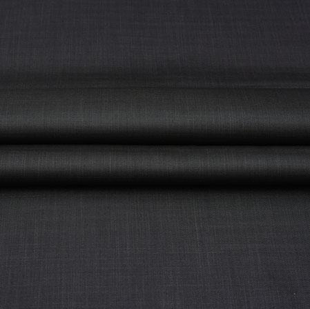 Men Unstitched Trouser (1.2 MTR)-Black Plain Cotton Wool Fabric-42168