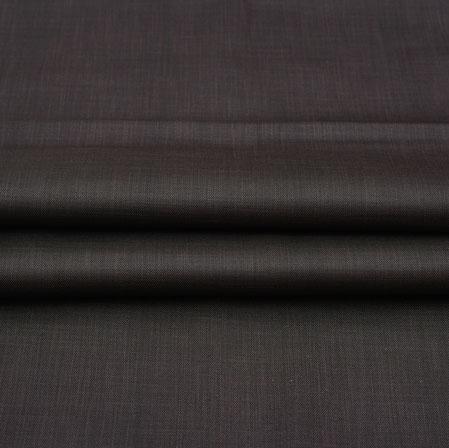 Men Unstitched Trouser (1.2 MTR)-Black Plain Cotton Wool Fabric-42177