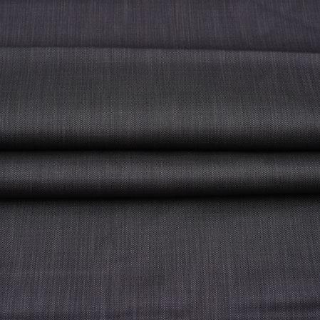 Men Unstitched Trouser (1.2 MTR)-Black Plain Cotton Wool Fabric-42178