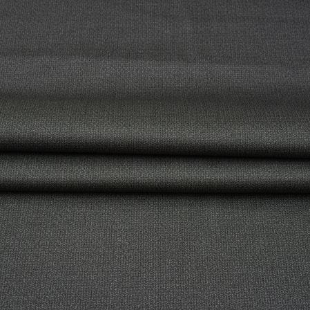 Men Unstitched Trouser (1.2 MTR)-Black Plain Cotton Wool Fabric-42191