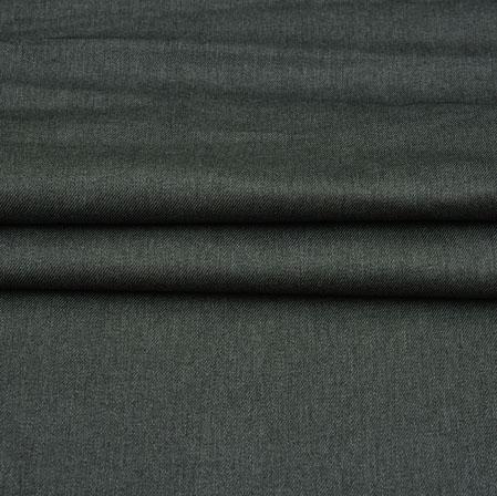 Men Unstitched Trouser (1.2 MTR)-Black Plain Cotton Wool Fabric-42199