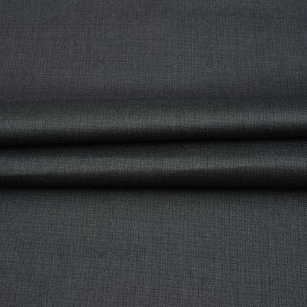 Men Unstitched Trouser (1.2 MTR)-Black Plain Cotton Wool Fabric-42205