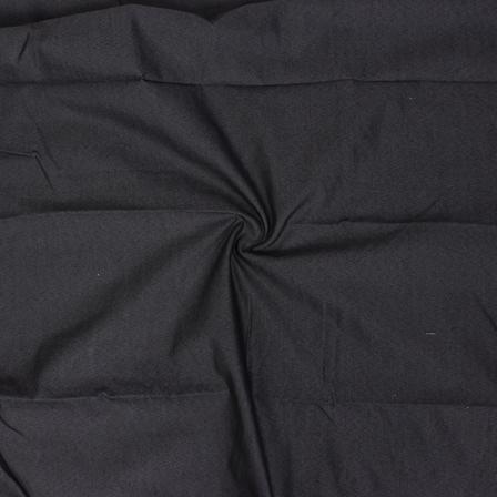 Black Poly Denim Handloom Cotton Fabric-40109