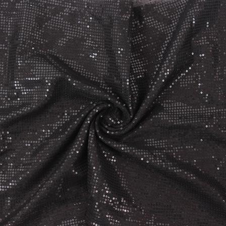 Black Shiny Sequin Fabric-60814