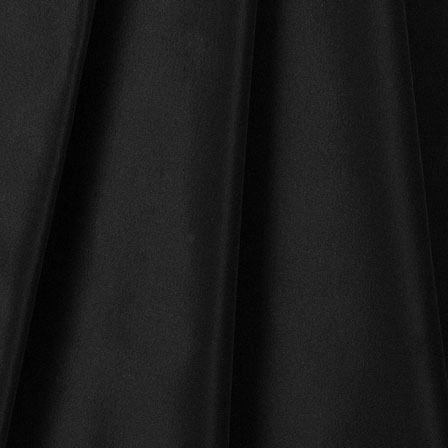 Black Silk Taffeta Fabric-6516