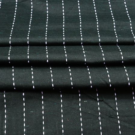 Black White Stripe Cotton Fabric-42376