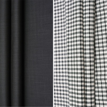 Combo Set Shirt and Trouser-Black White and Black-42083