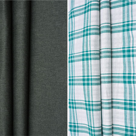 Combo Set Shirt and Trouser-Black White and Green-42155