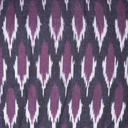 Black White and Purple Ikat Fabric by the Yard